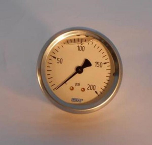 Image of NP-040-010700006 420-205 Oil Filled Steam Pressure Gauge 0-200 PSIBAR sold by RW Martin