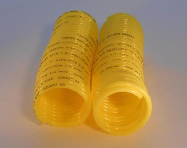 Image of NP-040-012200007 8-015 Self Storing Yellow Coil Air Line Hose Sold as a Pair sold by RW Martin