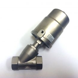 Image of NP-999-JF90S132YN 1-14 Pneumatic Angle Seat Valve Steam 316 SS NPT sold by RW Martin