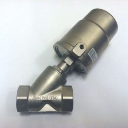 Image of NP-999-JF90S140YN 1-12 Pneumatic Angle Seat Valve Steam 316 SS NPT sold by RW Martin