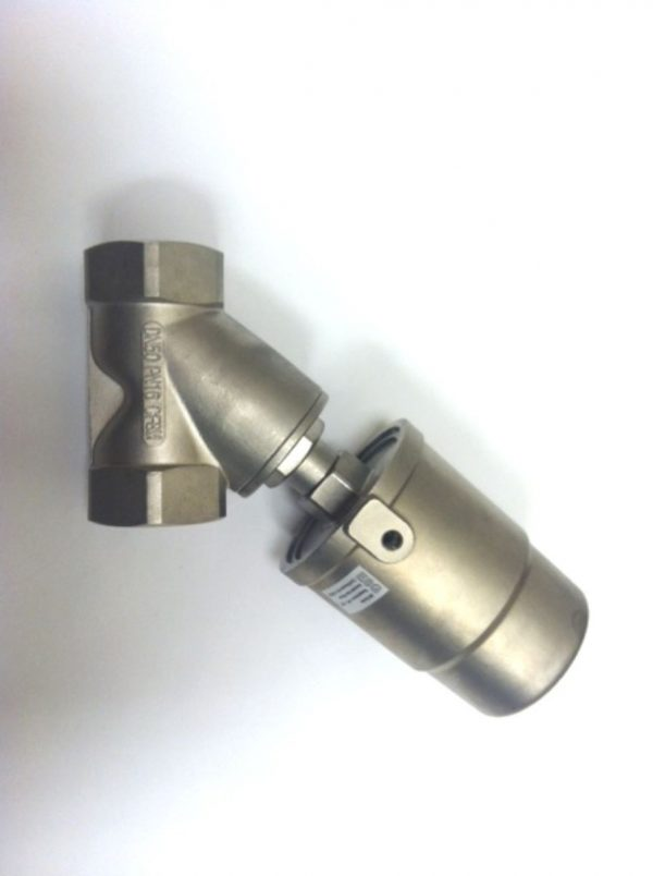 Image of NP-999-JF90S150WN 2 Pneumatic Angle Seat Valve Water 316 SS NPT sold by RW Martin