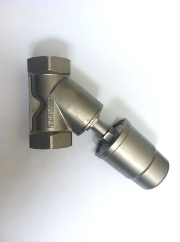 Image of NP-999-JF90S165YN 2-12 Pneumatic Angle Seat Valve Steam 316 SS NPT sold by RW Martin
