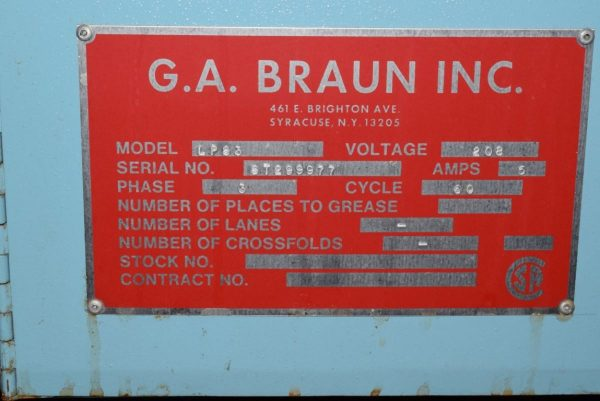 Image of UM-7331 Used Braun Stacker Model LPS3 sold by RW Martin