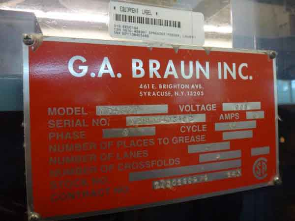 Image of UM-7887 Used Braun 4-Station Spreader Feeder Model MP4SSF sold by RW Martin