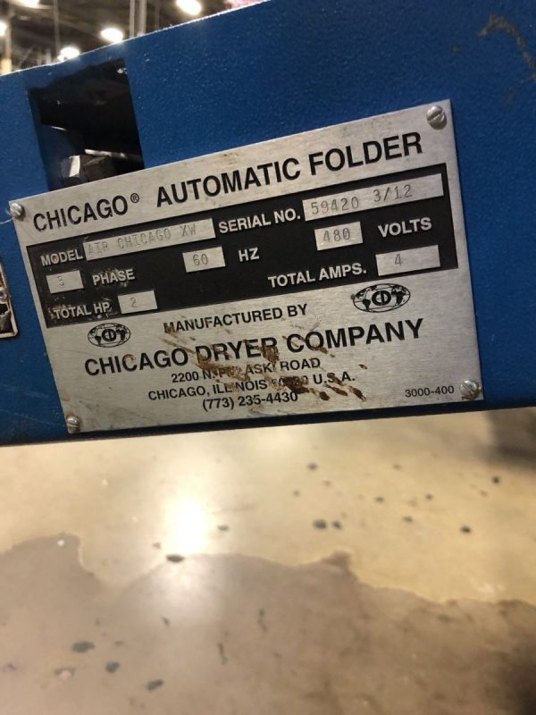 Image of UM-8107 Chicago Small Piece Folder Model AIR XW sold by RW Martin