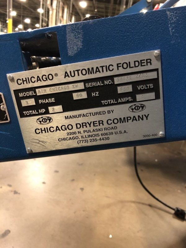 Image of UM-8108 Chicago Small Piece Folder Model AIR XW sold by RW Martin