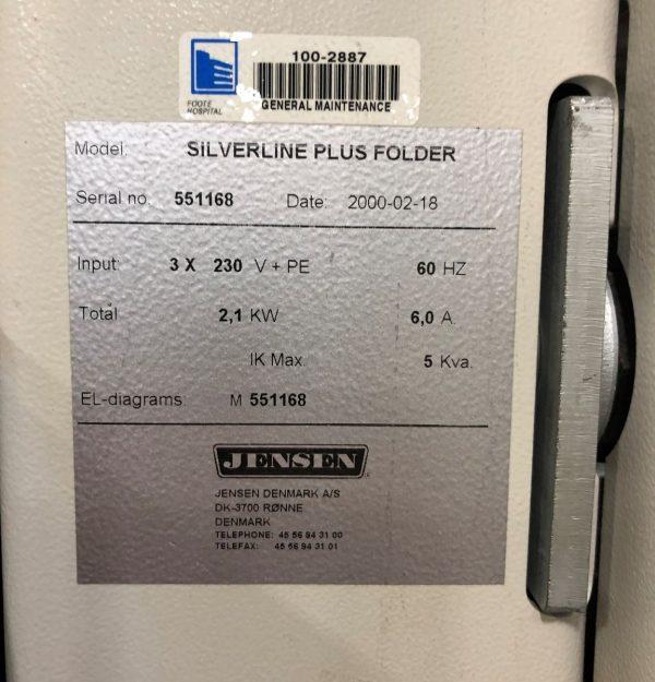 Image of UM-8185 Jensen Folder Crossfolder Model Silverline Plus sold by RW Martin